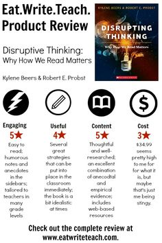 Eat. Write. Teach.: Disruptive Thinking Book Review and Giveaway!