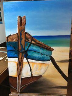 Ocean Paintings On Canvas, Ideas, Art, Paintings, Art Background, Kunst, Thoughts, Art Education