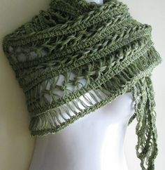 This elegant olive green shawl is a must have in your wardrobe for all seasons. Description from etsy.com. I searched for this on bing.com/images