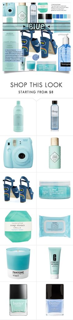"""Blue"" by clo-23 ❤ liked on Polyvore featuring Aveda, philosophy, Fuji, Benefit, H2O+, Pelle, Napoleon Perdis, Pantone, Clinique and Butter London"