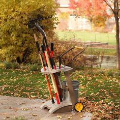 Heavy Duty Garden Cart Wheeled Caddy Portable Outdoor Tools Truck Utility Center…