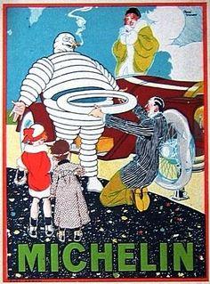 * publicité Michelin 1914 - René Vincent, pseudonyme Rageot (1879-1936).