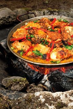 2ad8d9950ac039 Four fine dining recipes that you can whisk away with you into the wild.  Paella