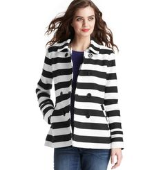 Loft - Corded Dobby Striped Trench