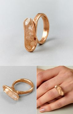 stand the chance to win this beautifully unique Rose silver & crystal quartz ring by Andy Lifschutz at the Couverture & The Garbstore Giveaway on Miss Moss