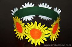 Great craft for spring:  Flower Crown craft