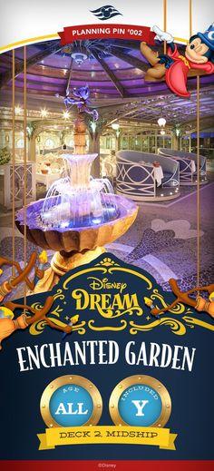 Disney Cruise Line Planning Pins | Disney Dream: Enchanted Garden