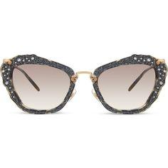 f330b15f0ef MIU MIU Smu04q cat eye sunglasses ( 415) ❤ liked on Polyvore featuring  accessories