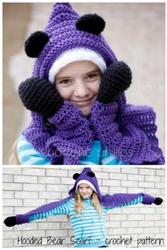 Hooded Bear Scarf