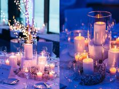 Beautiful winter wonderland wedding decoration