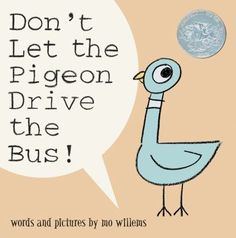 Picture book - Don't Let the Pigeon Drive the Bus! By Mo Willems. A bus driver takes a break so the pigeon steps up and wants to take his place. The pigeon pleads with you to let him drive, but the bus driver says not to let him. Mo Willems, This Is A Book, The Book, Best Children Books, Childrens Books, Young Children, Toddler Books, Toddler Storytime, Children Reading