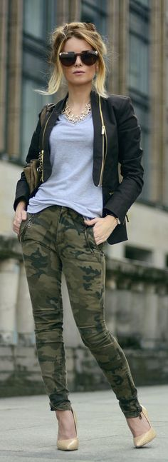 Army Green Camo Jeans