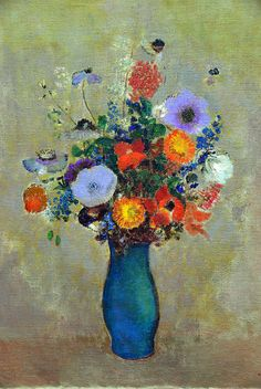 Odilon Redon - Fleurs des champs (Wildflowers), 1908 at Kunstmuseum Winterthur Switzerland by mbell1975, via Flickr