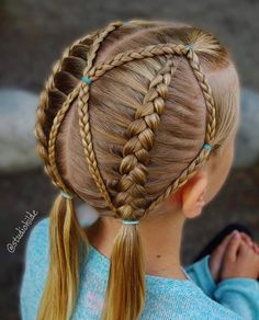 50 Lovely Kids Braided Hair Ideas For 2020 New Trendy Hair Ideas Girls Hairdos, Lil Girl Hairstyles, Dance Hairstyles, Pretty Hairstyles, Braided Hairstyles, Toddler Hairstyles, Princess Hairstyles, School Hairstyles, Braided Ponytail
