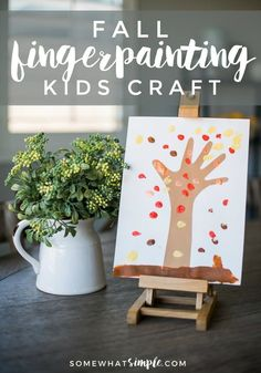 These fingerprint trees are a fun fall art project for the kids!