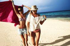 Alana Blanchard and Alejandra enjoying the fijian beaches. My Bikini Monday.