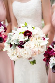 White Wedding Bouquets= with roses,calla lilly and YOUR color!
