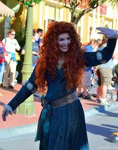 Merida from Brave Disney And More, Disney Fun, Disney Magic, Disney Parks, Disney Stuff, Disneyland Face Characters, Disney Characters Costumes, Disney Pixar Movies, Christmas Day Parade