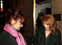 """M'Liss & Jessica Chastain - NYC December, 2012 - I was thrilled to see Jessica Chastain win the Golden Globe for Best Actress in a Movie last night. In December, we had the opportunity to meet her during her Broadway debut in """"The Heiress."""" Jessica graciously chatted and signed her autograph for me.   Congratulations Jessica!"""