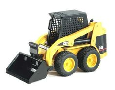 A versatile loader truck to handle every job, big and small! In addition to the included bucket that can be lowered and raised, this small truck can be fitted with a number of different forks and tool accessories, sold separately. $15.70 #kidstoys #trucks #construction #fun #bruder