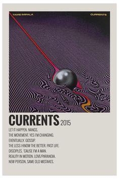 Currents by Maja #alternative #minimalist #music #poster #alternativeminimalistmusicposter Poster Minimalista, Minimalist Music, Music Collage, Iconic Movie Posters, Band Posters, Music Posters, Room Posters, Event Posters, Movie Prints
