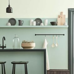 """55 Likes, 1 Comments - The House Directory (@thehousedirectory) on Instagram: """"Aquamarine in two shades, from the new #coloursofengland paint chart @littlegreenepaintcompany…"""""""