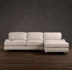 English Roll Arm Upholstered Sofa Chaise Sectionals | Sectionals | Restoration Hardware