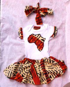 Nasirah African Kente Print Outfit Baby Girl by jdizaclothingco