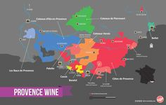 Provence Wine Region Map. France mxm