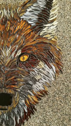 Amazing fox created by Tanya at Obsessive Creative Disorder :) Ocd, Mosaics, Disorders, Amazing, Creative, Animals, Animales, Animaux, Mosaic