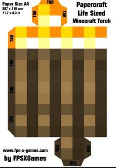 Papercraft Minecraft House Artesanato De Minecraft Passo A Passo – tocha Molde - Everything About Minecraft Minecraft Crafts, Slime Minecraft, Minecraft Light, Cool Minecraft Houses, Minecraft Printable, Minecraft Buildings, Minecraft Skins, Minecraft Stuff, Minecraft Decorations