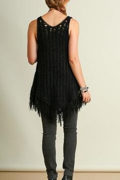 Shoptiques Product: Fringe Knit Sweater Top