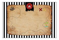 Printable et modèle d'invitation pirate carte au trésor à télécharger gratuitement