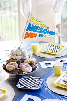 Design Improvised: Dad is Rad! Father's Day Party Ideas