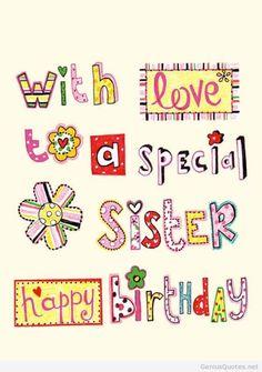 17 Fantastiche Immagini Su Buon Compleanno Sorella Buon