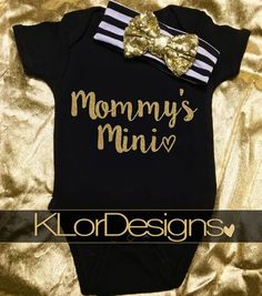 Mommy's Mini me onesie Baby Girl onesie baby shower by KLorDesigns