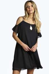 boohoo Open Soulder Woven Swing Dress - black azz07712 No off-duty wardrobe is complete without a casual day dress. Basic bodycon dresses are always a winner and casual cami dresses a key piece for pairing with a polo neck , giving you that effortless eve http://www.comparestoreprices.co.uk/dresses/boohoo-open-soulder-woven-swing-dress--black-azz07712.asp