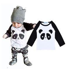 Bobo choses boys T-shirt baby boys&girls panda T shirt Spring autumn Cartoon animal long sleeve t-shirt top tee boys clothes