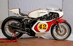 1979 Yamaha TZ750 Racing Motorcycle - Infamously fast, violently powerful - no power band to speak of, just frame bending, instant torque and HP - Buell described his as the power delivery 'like a light switch' when you twisted the throttle