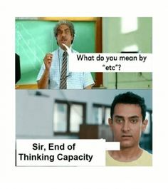 Etc----->this movie is amazing, yall should wazch it its called three idiots Funny Minion Pictures, Best Funny Pictures, Funny Images, Pet 1, Quotes That Describe Me, What Do You Mean, Dad Jokes, You Meant, Funny Comics