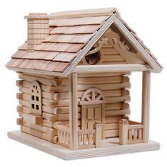Duncraft.com: Cabin Bird House (how cute!)