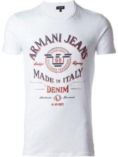 Armani Jeans Camiseta com logo estampado