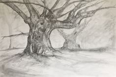 Graphite drawing  By Peter Hart (After a painting by Samuel Palmer)