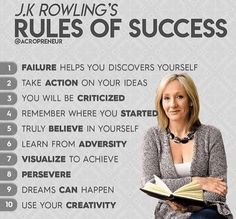 Rules of success by J.K. Rowling