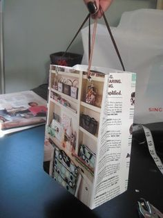 Don't throw out your old catalogs! Use them to create gift bags for your Direct Sales business or personal use!