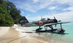 "usafphantom2: ""A6M2 ""Rufe"" Japanese floatplane fighter 1941. """