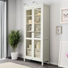 HEMNES Vitrina, tinte blanco, 90x197 cm - IKEA