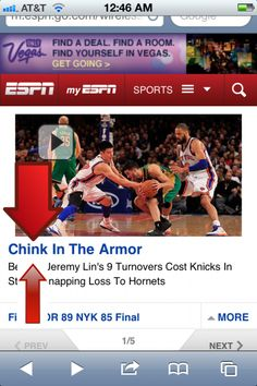 Chink?  Really?  After all he's done thus far?