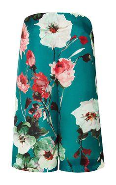 Floral Triple Organza Short Jumpsuit