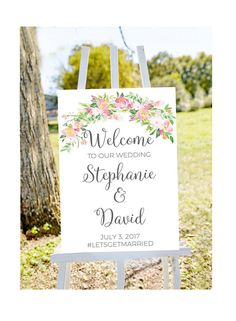 Printable wedding welcome sign welcome to our wedding